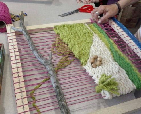 taller de tapices para niños