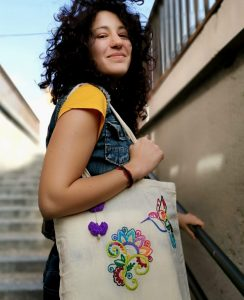 Taller bordado creativo tote bag