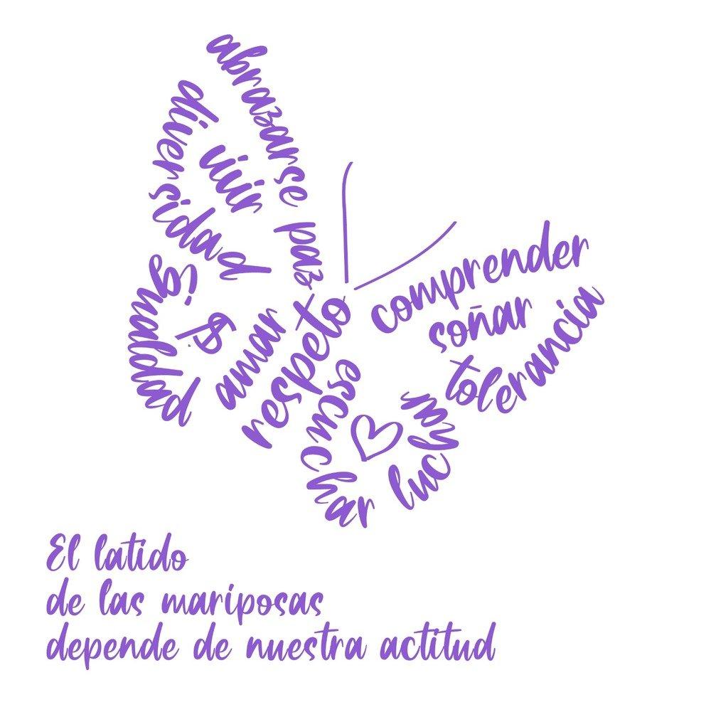 Primer logotipo del proyecto el latido de las mariposas