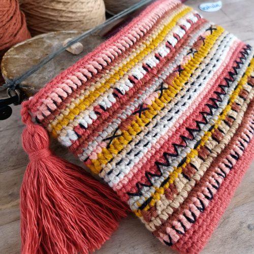 bolso étnico de crochet