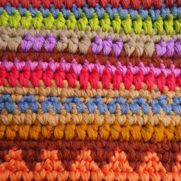detalle de cambios de color con la técnica de tapestry